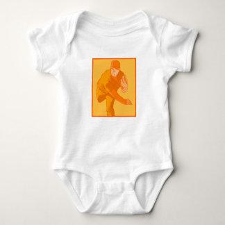 Orange Pitcher Baby Bodysuit