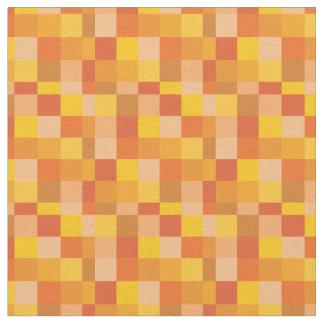 Orange Pixelated Pattern | Gamer Fabric