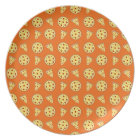 Orange pizza pattern plate