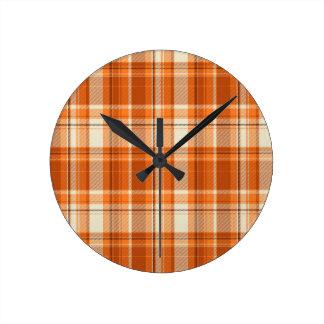 Orange plaid clocks