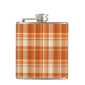 Orange plaid flask