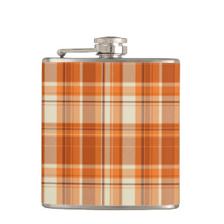 Orange plaid flasks