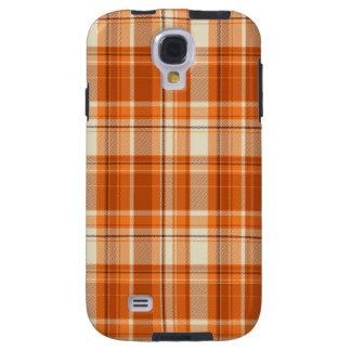 Orange plaid galaxy s4 case