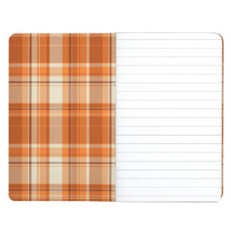 Orange plaid journal
