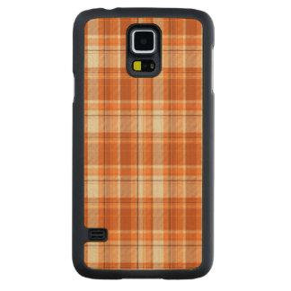 Orange plaid maple galaxy s5 case