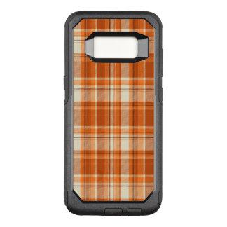 Orange plaid OtterBox commuter samsung galaxy s8 case