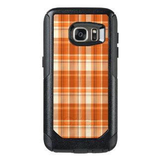 Orange plaid OtterBox samsung galaxy s7 case