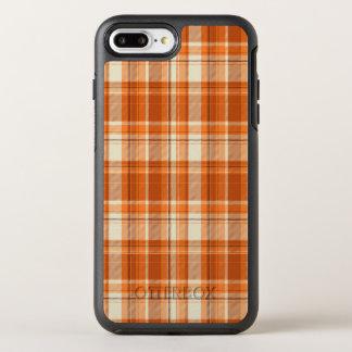 Orange plaid OtterBox symmetry iPhone 8 plus/7 plus case