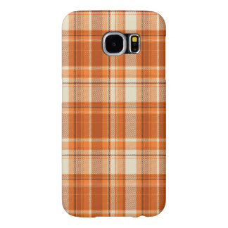 Orange plaid samsung galaxy s6 cases