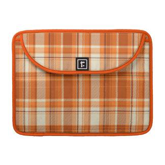 Orange plaid sleeves for MacBook pro