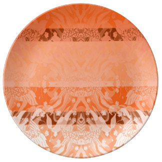 orange plate porcelain plate