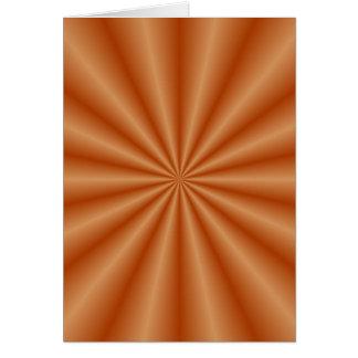 Orange Pleats Card