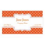Orange Polka Dot Business Card