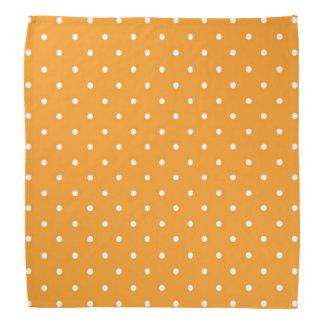 Orange Polka Dot Design Bandana