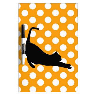 Orange Polka Dot Dry Erase Board