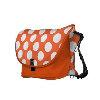 Orange Polka Dots Design Courier Bags