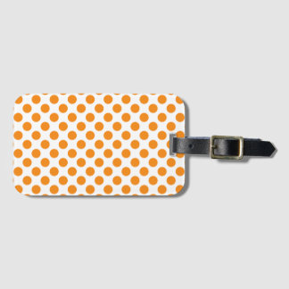 Orange Polka Dots Luggage Tag