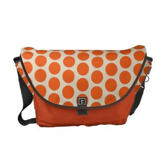 Orange Polka Dots Messenger Bag