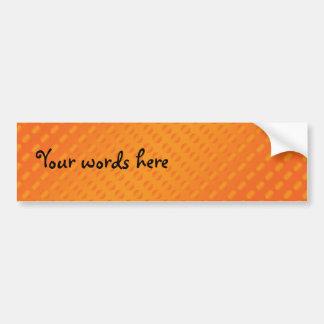 Orange polka dots on orange background bumper sticker