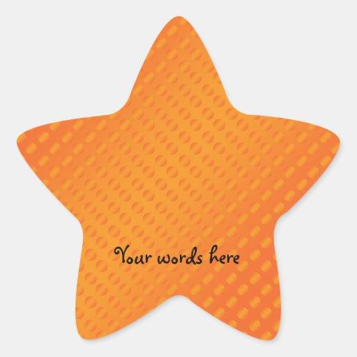 Orange polka dots on orange background star sticker