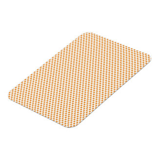 Orange Polka Dots on White Rectangular Photo Magnet