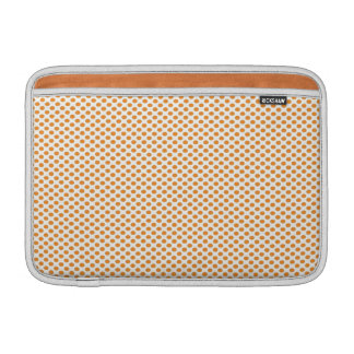 Orange Polka Dots on White MacBook Sleeve
