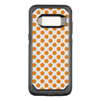 Orange Polka Dots OtterBox Commuter Samsung Galaxy S8 Case