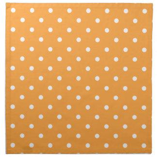 Orange Polka Dots Pattern. Napkin