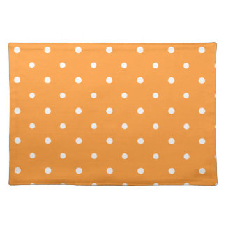 Orange Polka Dots Placemat