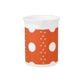 Orange Polkadot Stripes Pitcher