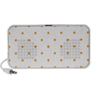 Orange Polkadots Small Travel Speakers