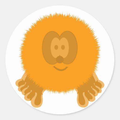 Orange Pom Pom Pal Stickers