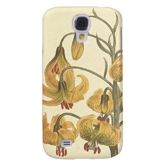 Orange Pompone Lily Botanical Illustration Galaxy S4 Case