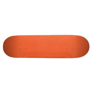 Orange Pop-Bright Orange-Uptown Girl-Designer Skate Board Deck