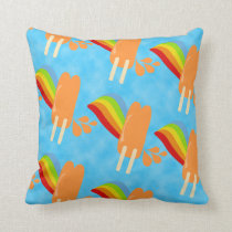 Orange Pop Retro Rainbow Cushion