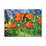 Orange poppies 79 canvas print