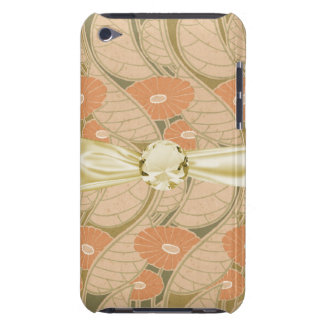 orange poppies art noueveau style iPod touch case