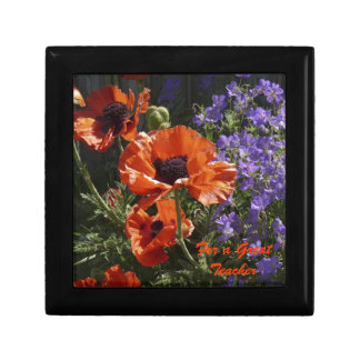 Orange Poppies Gift Box, Jewelry Box