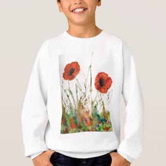 Orange Poppies in the grass Sweatshirt