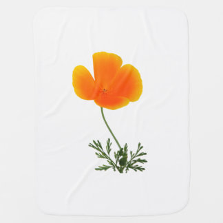 orange poppy baby blanket