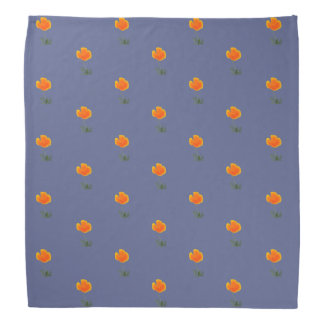 orange poppy bandana