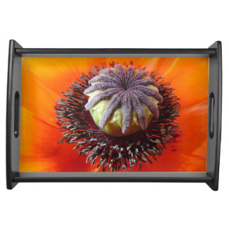 Orange Poppy Center Serving Tray