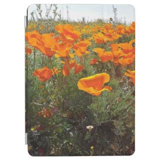 Orange Poppy Field of Flowers iPad Pro Cover