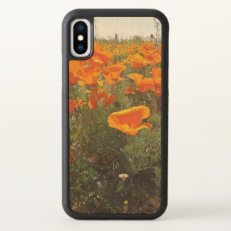 Orange Poppy Field of Flowers iPhone X Case