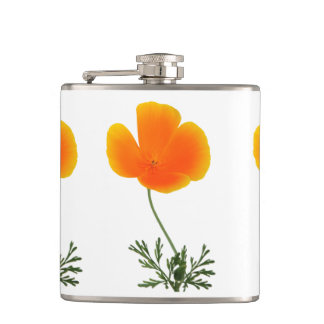 orange poppy flasks