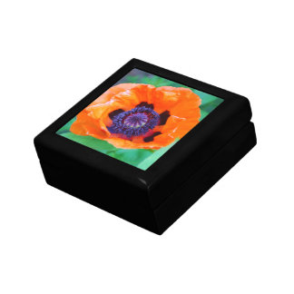 Orange Poppy Flower Gift Box