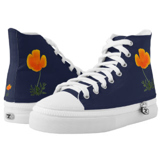 orange poppy high tops