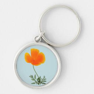 orange poppy key ring