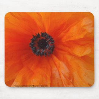 Orange Poppy Macro Mouse Mat