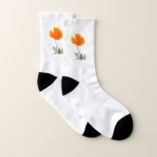 orange poppy socks